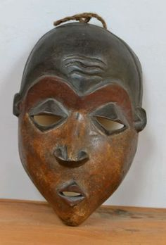 Amazing African pende Mask from DR Congo approx size 23cm --- 9inches high by14cm--5.5 inches wide | eBay!