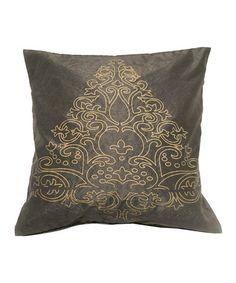 Look at this #zulilyfind! Scrollwork Embroidered Throw Pillow #zulilyfinds