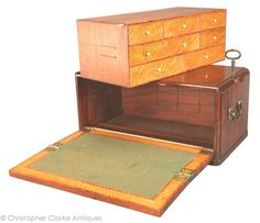 Specialist antique dealers in British campaign furniture, military chests, related art & items for ease of travel. Folding Furniture, Furniture Projects, Furniture Decor, Wood Projects, Woodworking Projects, Art Nouveau, Pen Storage, Wooden Trunks, Diy Fountain
