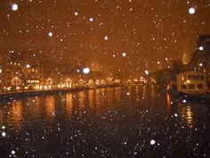 Snowing in Zurich...