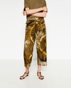TIE-DYE TROUSERS-View All-TROUSERS-WOMAN | ZARA United Kingdom
