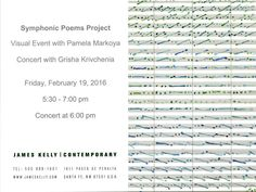Symphonic Poems Project - Visual Event with Pamela Markoya Friday, Feb 19th 5:30-7:00pm