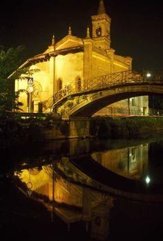 ~CHIESA DI SAN CRISTOFORO~ a characteristic church along Naviglio Grande, Milan~