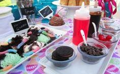 Host an ice cream social for a kids birthday party!