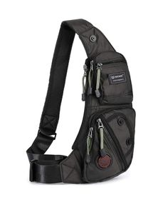f1a10339baad Sling Bag Chest Shoulder Backpack Fanny Pack Crossbody Bags for Men(Black)  - Black - CH12OI186CK