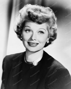Lucille Ball Happy Portrait 8x10 Reprint Of Old Photo