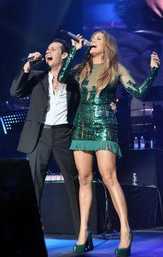 Jennifer Lopez joins Marc Anthony on stage