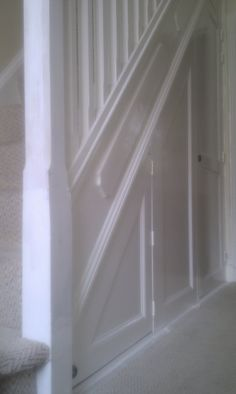 Under Stair Cupboard And Stair Spindles