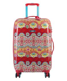 Look at this #zulilyfind! Red Arabesque Hard-Top Carry-On Spinner #zulilyfinds