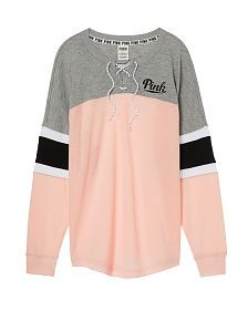 PINKNEW! Lace-Up Varsity Crew: Cherub Pink (2 of 3)