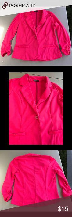 Selling this Bright Pink Blazer on Poshmark! My username is: sarah_indigo. #shopmycloset #poshmark #fashion #shopping #style #forsale #wearever #Jackets & Blazers