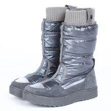 Excelente calidad mujeres de invierno zapatos calientes abajo plumas mujeres botas impermeables antideslizantes para mujer botas para la nieve botas moda SNC-027(China (Mainland))