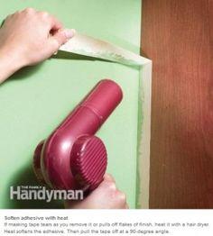 Schilder-tape handig verwijderen