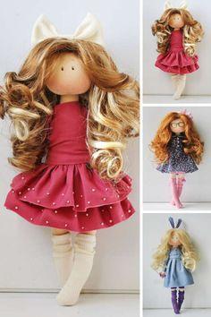 Tilda doll Cloth doll Handmade doll Textile by AnnKirillartPlace