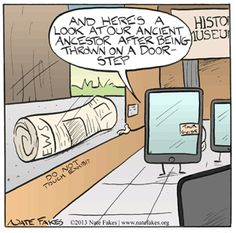 Throwback Thursday | iPad's ancient ancestor | Created by Nate Fakes via Funny Technology - Google+