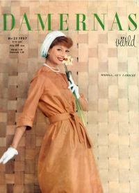 50's, dress, vintage dress, 50's style, 50's fashion, fashion, vintage, Damernas Värld, fashion magazine. More vintage fashion: http://damernasvarld.se/arkivet/