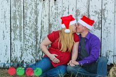 Christmas Maternity photo idea