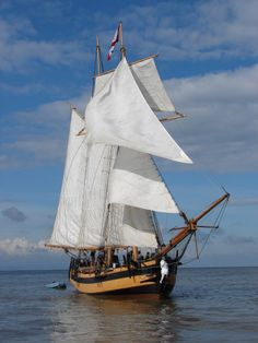 An exact replica of a warship that fought during the Napoleonic war, 1799, twin-masted tall ship, the Schooner Pickle, has welcomed her first guests aboard.  The original vessel that took part in the Battle of Trafalgar, brought home the sad news of Lord Nelson's death, but the good news of victory.  Robin James, captained HMS Pickle from Wal