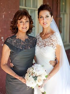 Susan Sarandon and daughter, Eva Amurri. Love how their dresses match!