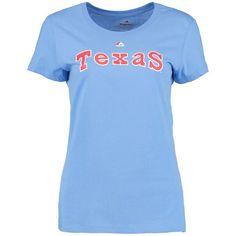 Texas Rangers Majestic Threads Women's Cooperstown T-Shirt - Light Blue - $25.99
