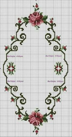This post was discovered by ne Cross Stitch Borders, Cross Stitch Rose, Cross Stitch Flowers, Modern Cross Stitch, Cross Stitch Charts, Cross Stitch Designs, Cross Stitching, Cross Stitch Patterns, Ribbon Embroidery