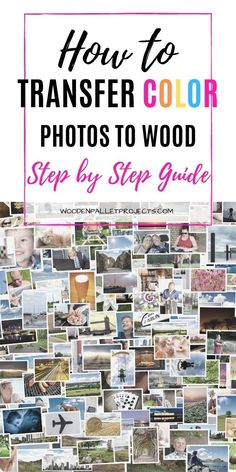 Ever wondered how to transfer color photos to wood that look great? Check out this simple step by step guide that will show you how to transfer photos to wood without fail with 5 different methods to keep you busy. #phototransfertowood #colorphototransfer #imagetransfer Transfer Images To Wood, Photo Transfer To Wood, Wood Transfer, Diy Home Crafts, Decor Crafts, Crafts To Make, Woodworking Projects Diy, Easy Diy Projects, Wood Steps