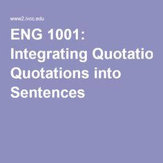 quotations in essays