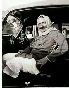 Baba in car