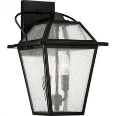 Quoizel BRE8409K - Black Ridge Outdoor Lantern, Mystic Black