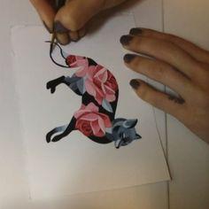 #foxtattoo #sashaunisex #watercolor #rosetattoo #Moscow