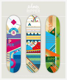 Skateboard collection for Ripper Co. by *ELNA, via Flickr