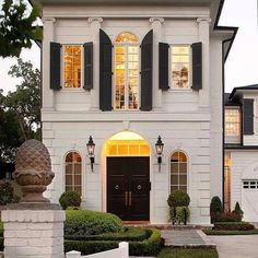 Modern French home, French, exterior view . - # exterior view - Modern French home, French, exterior view … – # Exterior # French - French Cottage, French Country House, French Country Decorating, White Cottage, Country Chic, Modern French Decor, Home Modern, Modern Cottage, Country Houses
