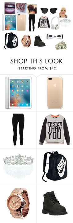 """me"" by nayla-thomas on Polyvore featuring beauty, Apple, L'Agence, ESPRIT, Beats by Dr. Dre, Kate Marie, NIKE, Michael Kors, Timberland and Ace"