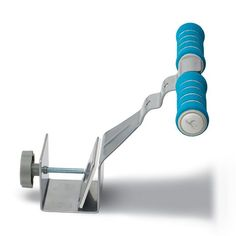 An adjustable sit-up bar that can be attached to the bottom of doors. Adjusts to fit most doors. Helps hold feet so you can do sit-ups. Cushioned foot handles in blue with white stripes. Regularly $9.99, shop Avon Home products online at http://eseagren.avonrepresentative.com