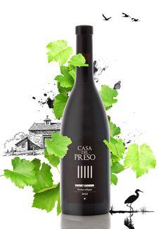 """Omnimusa diseña para Bodegas del Saz la etiqueta de vino de su nueva marca """"Casa del Preso"""" dirigida especialmente al mercado Chino.  El briefing de trabajo consistía en diseñar una etiqueta de estilo desenfado y sencilla, pero a su vez que fuera elegante y creativa."""