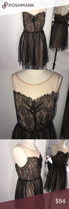 Pins & Needles Lace Nude Lingerie Style Dress Perfect condition! Message me with any questions! Happy Shopping! Pins & Needles Dresses