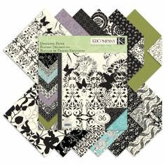 Amazon.com: K&Company Black & Ivory Designer 12-by-12-Inch Paper Pad: Arts, Crafts & Sewing