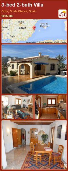 3-bed 2-bath Villa in Orba, Costa Blanca, Spain ►€225,000 #PropertyForSaleInSpain