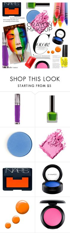 """All the Colors: Crayon-Inspired Makeup"" by heather-reaves ❤ liked on Polyvore featuring beauty, Urban Decay, Bobbi Brown Cosmetics, NARS Cosmetics, MAC Cosmetics, Topshop and Color"