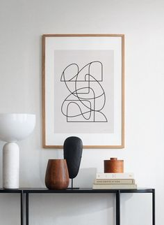 Natural Home Decor Image of Lineare lines Home Decor Items, Home Decor Accessories, Cheap Home Decor, Art Prints For Home, Piece A Vivre, Minimalist Interior, Decorating Small Spaces, My New Room, Interiores Design