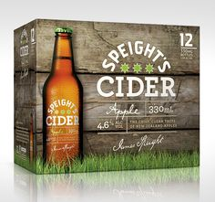 Discover more of the best Beer, Packaging, Speight, Cider, and Label inspiration on Designspiration Cool Packaging, Beverage Packaging, Bottle Packaging, Label Design, Graphic Design, Package Design, Graphic Art, Packaging Design Inspiration, Design Ideas