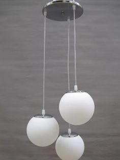 1460pe colgante c/3 globos de 18cm diam opal satinado linea cromada