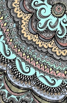 Boho wallpaper wallpapers boho wallpaper iphone x Tangle Doodle, Doodles Zentangles, Zentangle Patterns, Doodle Art, Doodle Patterns, Doodle Drawings, Love Mandala, Mandala Art, Iphone Wallpaper Tumblr Hipster