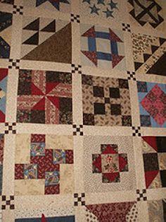 Civil War Quilts-Cute cornerstone idea
