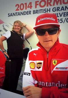w/Kimi Raikkönen ahead of the #F1 2014 Grand Prix @ Silverstone