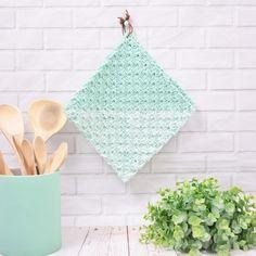 Potholders – Stonewash Mix from Knit Or Crochet, Hand Crochet, Crochet Hooks, Crochet Baby, Free Crochet, C2c, Knitting Patterns, Crochet Patterns, Crochet Potholders