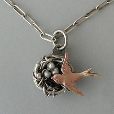 Birds Nest Necklace: Thomas Mann: Silver & Pearl Necklace - Artful Home - Pricing Comparison