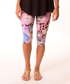 Look what I found on #zulily! Pink Jungle Capri Leggings #zulilyfinds