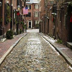 Step off the curb and back in time with these beautiful stone streets.