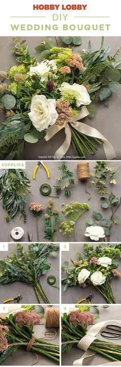 Wedding - This DIY bouquet is perfect for a farmhouse wedding Visit your local Hobby Lobby® to get supplies Wedding Bells, Fall Wedding, Diy Wedding, Rustic Wedding, Dream Wedding, Wedding Reception, Wedding Ideas, Wedding Crafts, Wedding Decorations